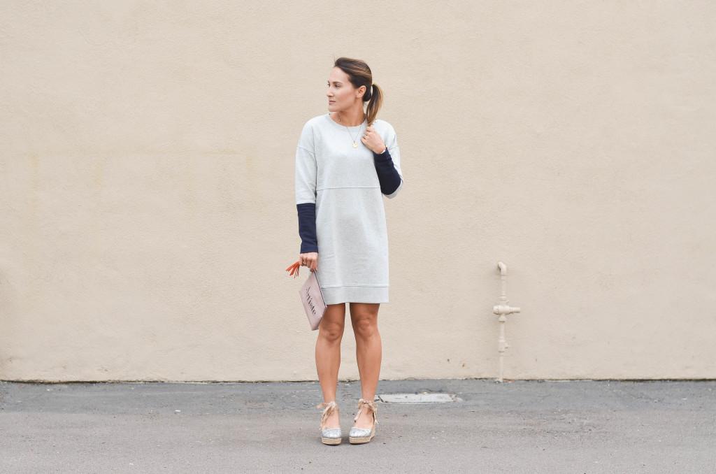 Day to night sweatshirt dress