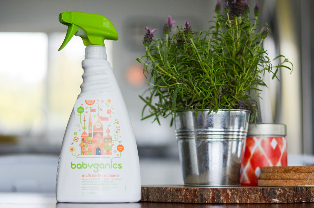 A clean home with Babyganics