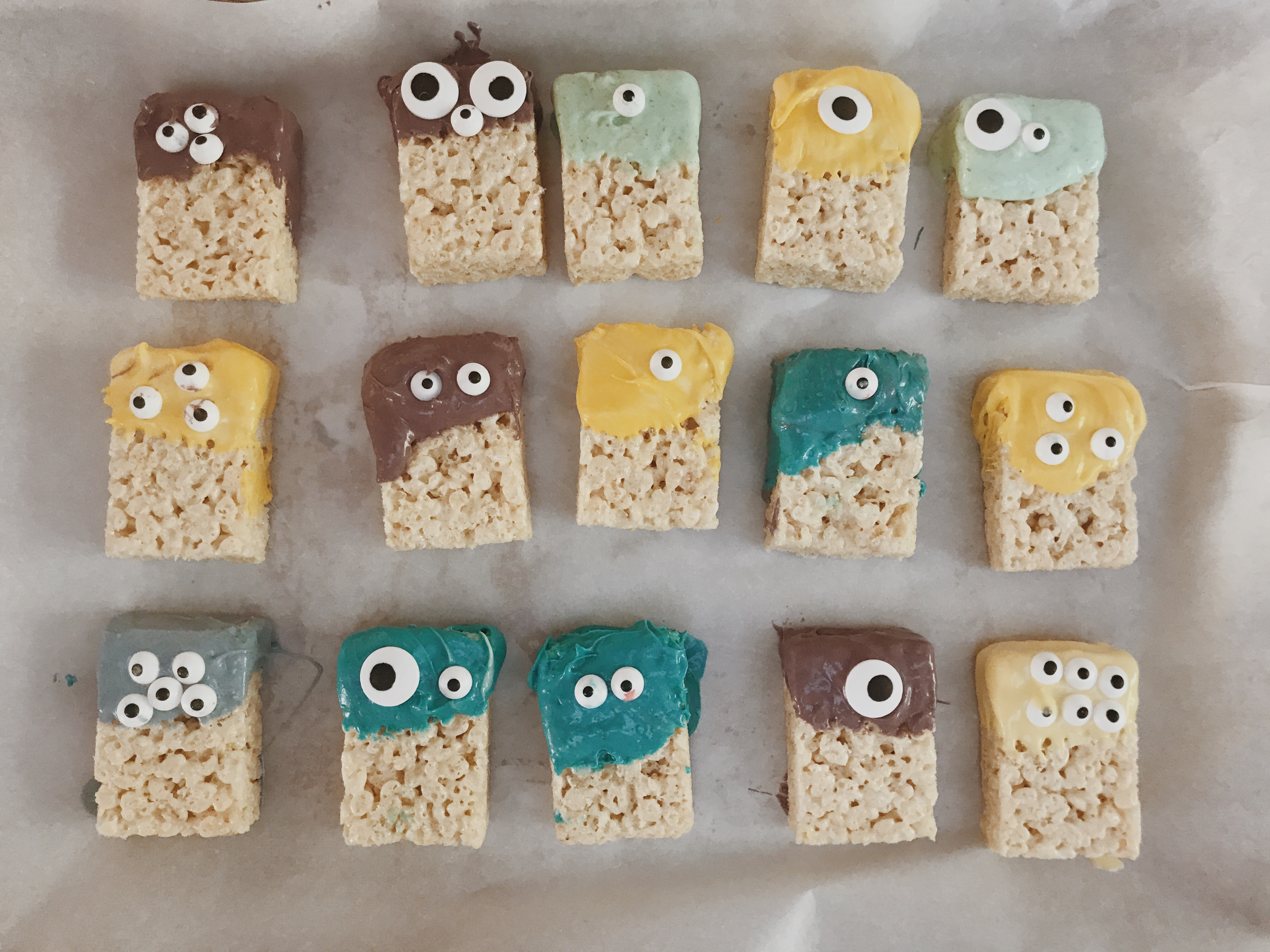 Easy Peasy Monster Rice Crispy Treats
