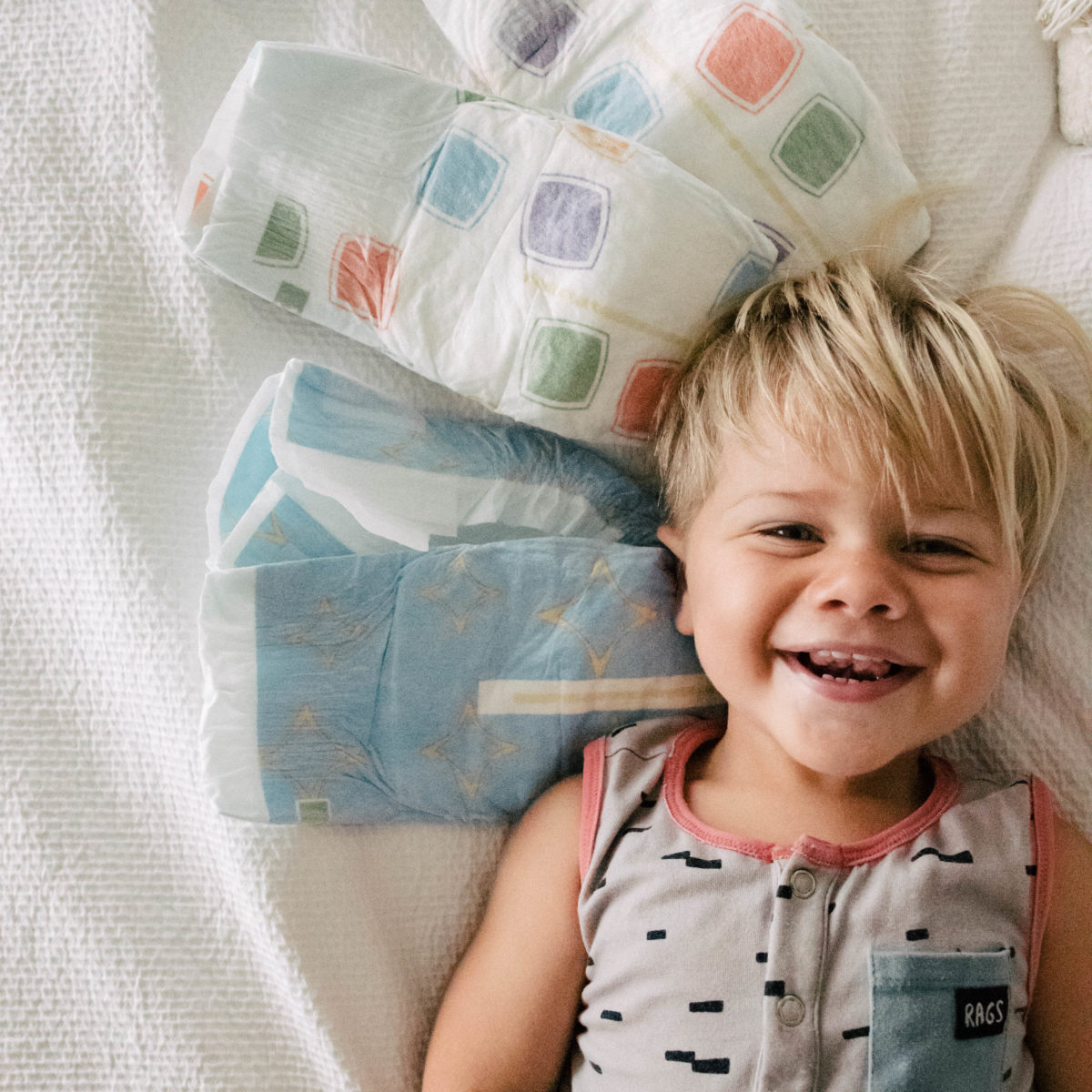 Toddlers Deserve comfortable diapers too