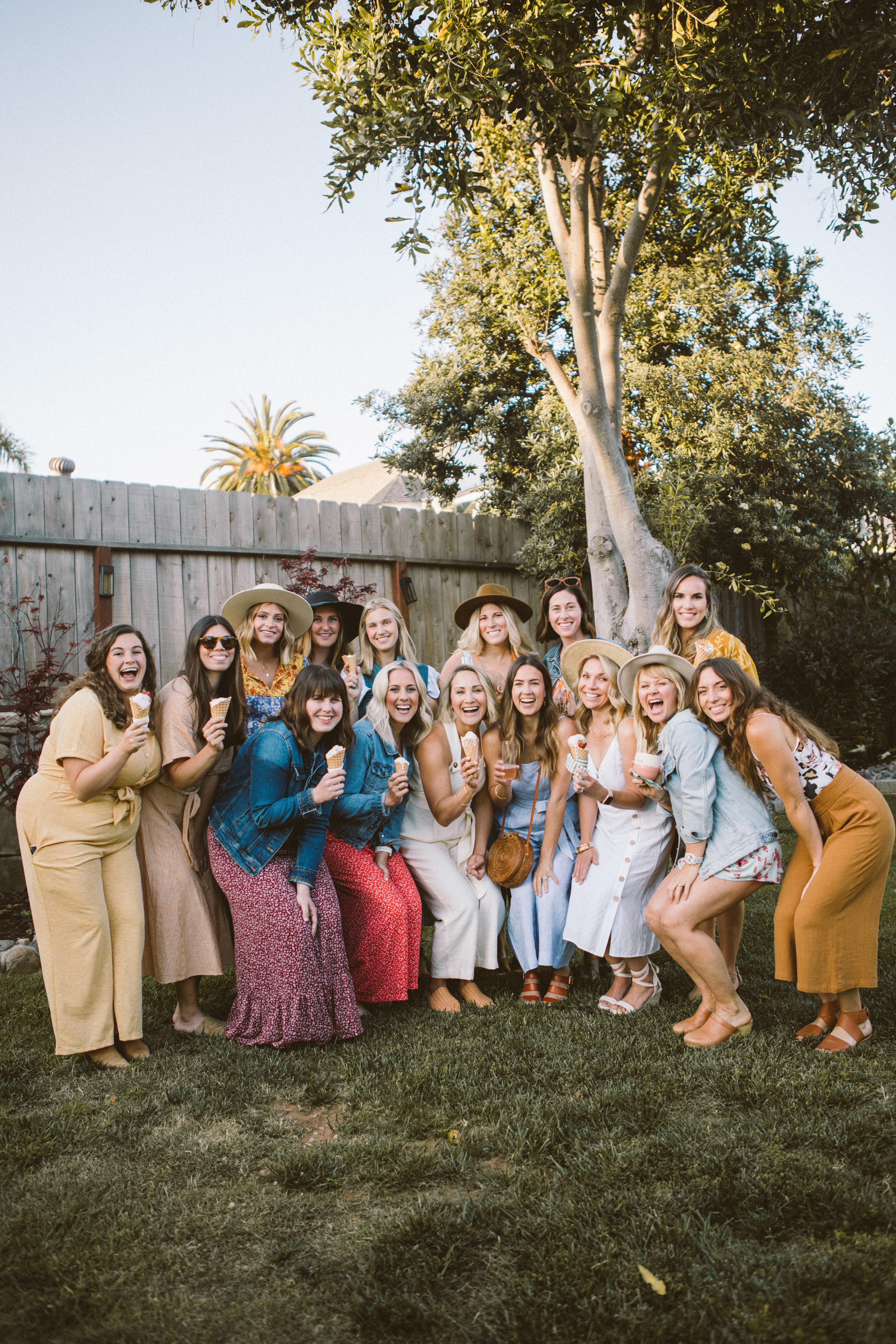 An Ice Cream Garden Party to Empower women
